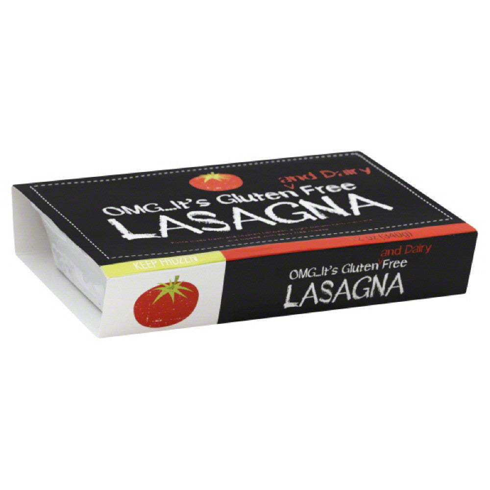 OMG Its Gluten Free Dairy Free Fully Cooked Lasagna, 12 Oz (Pack of 12)