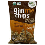 Gimme Teriyaki Seaweed Rice Chips, 4 Oz (Pack of 12)