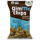 Gimme Sea Salt Seaweed Rice Chips, 4 Oz (Pack of 12)