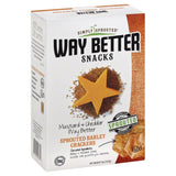 Simply Sprouted Mustard & Cheddar Way Better Sprouted Barley Crackers, 5 Oz  ( Pack of  6)