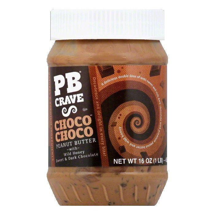 Pb Crave Choco Choco Peanut Butter, 16 Oz (Pack of 6)