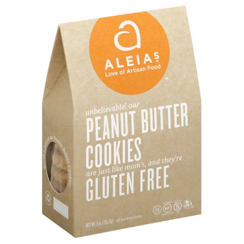 Aleias Peanut Butter Cookies, 9 Oz (Pack of 6)
