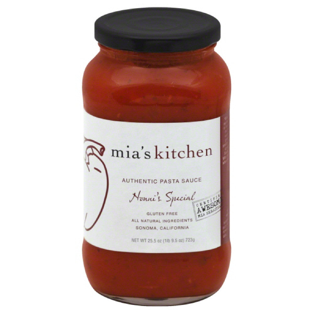 Mias Kitchen Nonnie's Special Authentic Pasta Sauce, 25.5 Oz (Pack of 6)