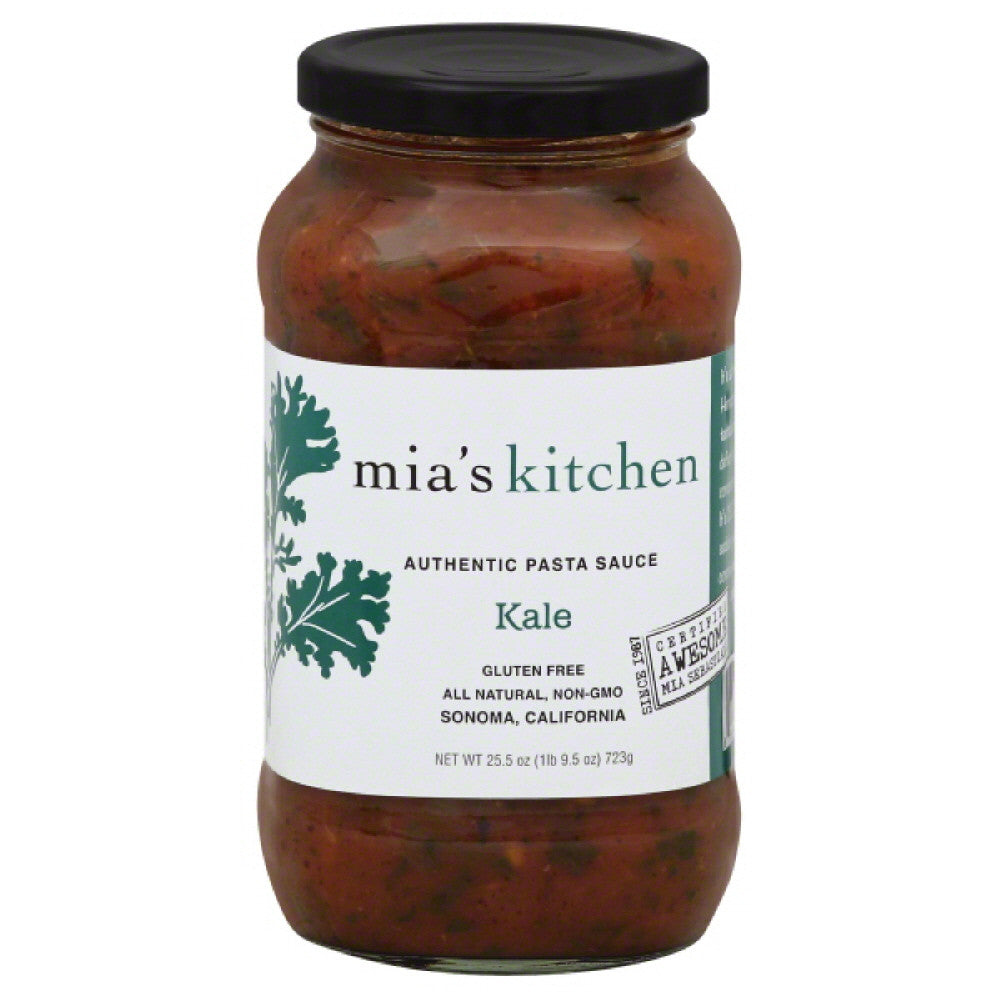 Mias Kitchen Kale Authentic Pasta Sauce, 25.5 Oz (Pack of 6)