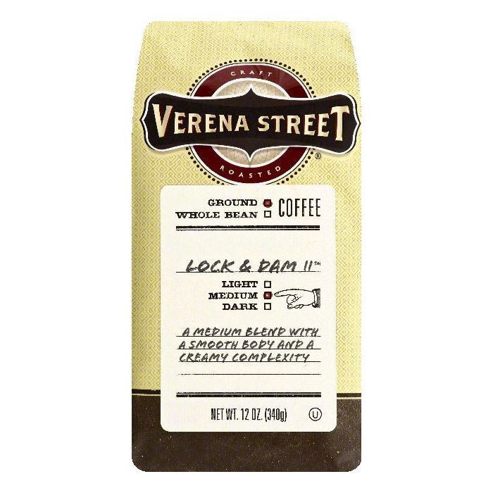Verena Street Lock & Dam 11 Medium Ground Coffee, 12 OZ (Pack of 6)