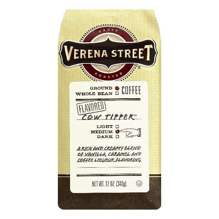 Verena Street Cow Tipper Medium Ground Coffee, 12 OZ (Pack of 6)