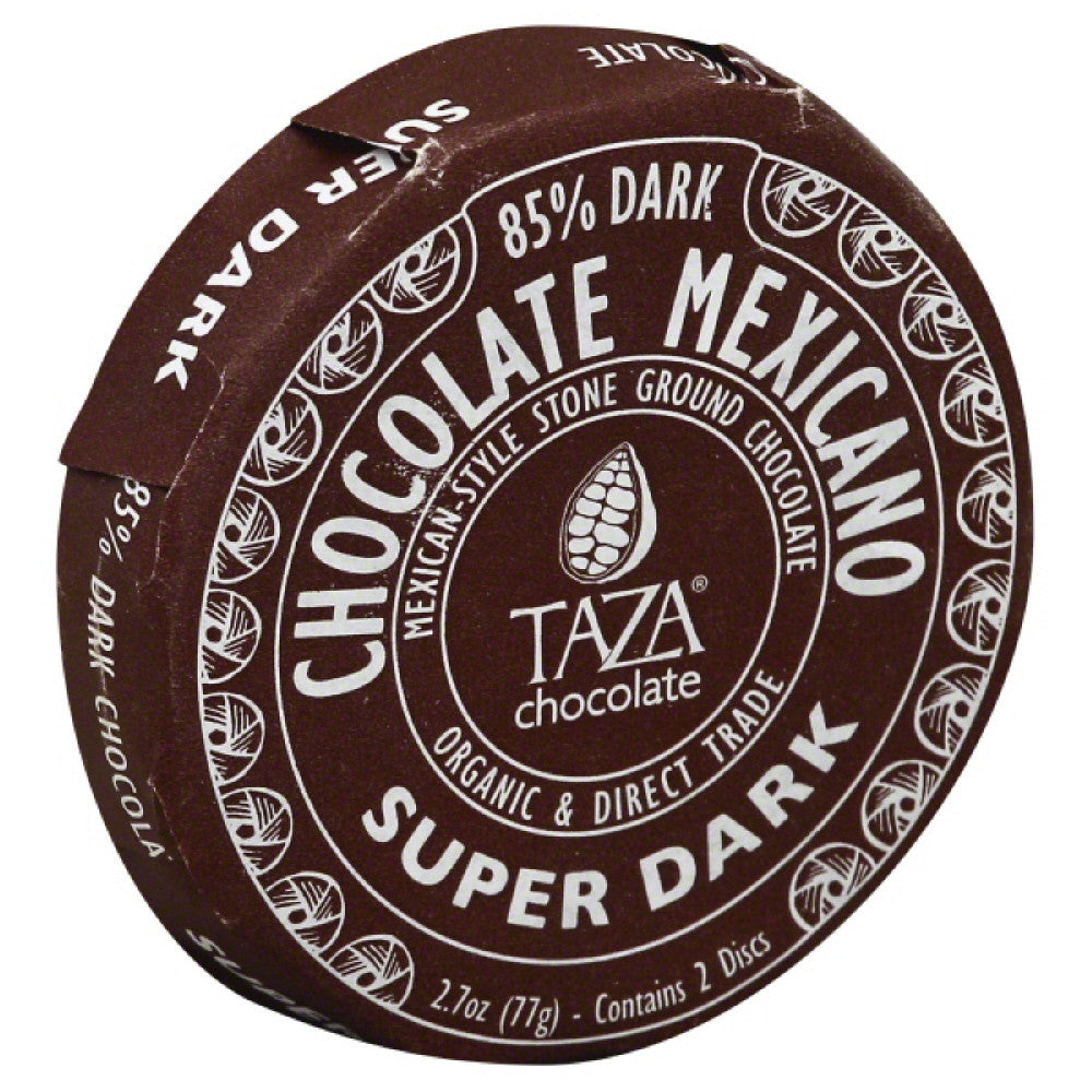 Taza Super Dark Stone Ground Mexican-Style Dark Chocolate, 2.7 Oz (Pack of 12)