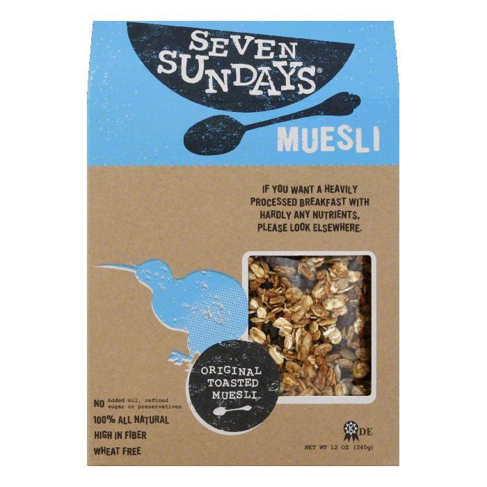 Seven Sundays Original Toasted Muesli, 12 Oz (Pack of 6)