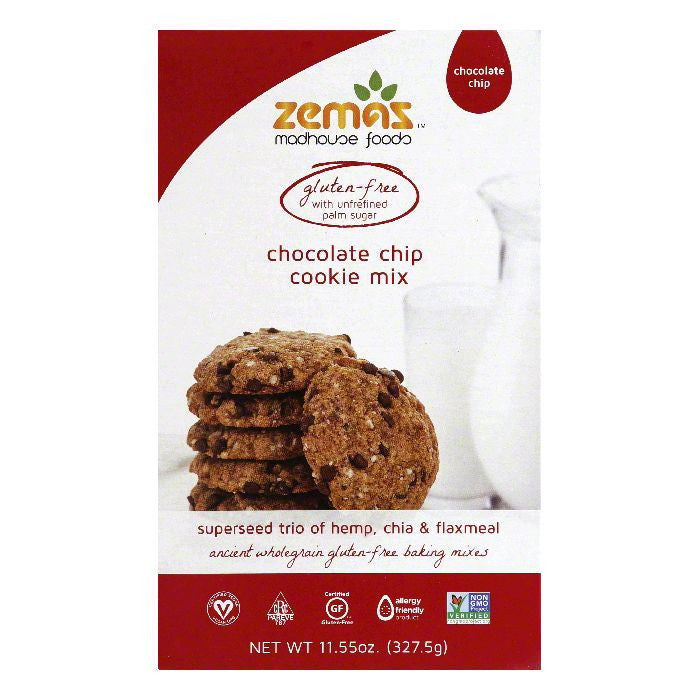 Zemas Chocolate Chip Cookie Mix, 11.55 Oz (Pack of 6)