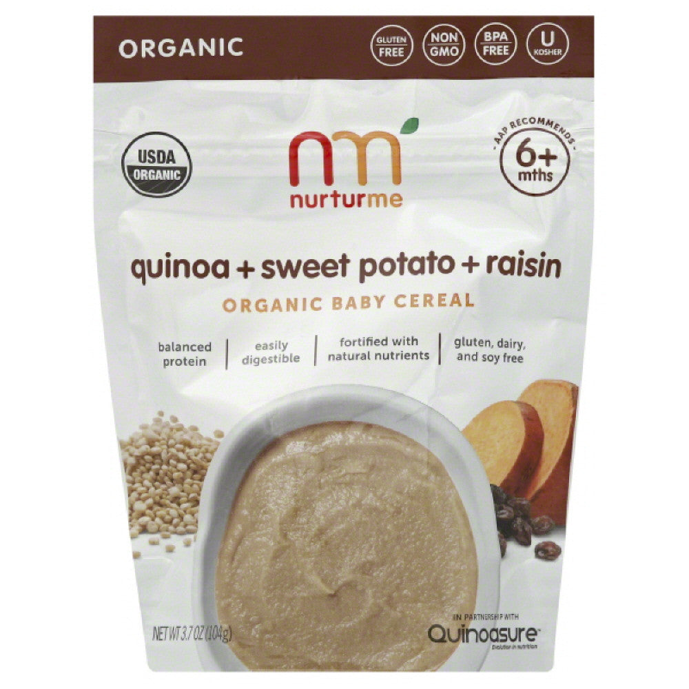 NurturMe 6+ Mths Quinoa + Sweet Potato + Raisin Organic Baby Cereal, 3.7 Oz (Pack of 6)