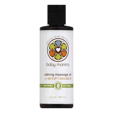 Baby Mantra Calming Massage Oil, 4 OZ