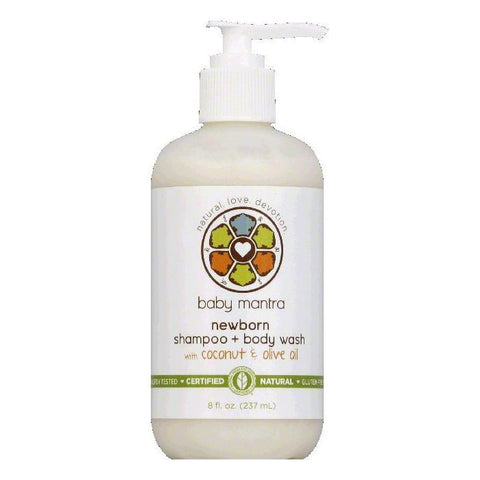 Baby Mantra Newborn Shampoo + Body Wash, 8 OZ