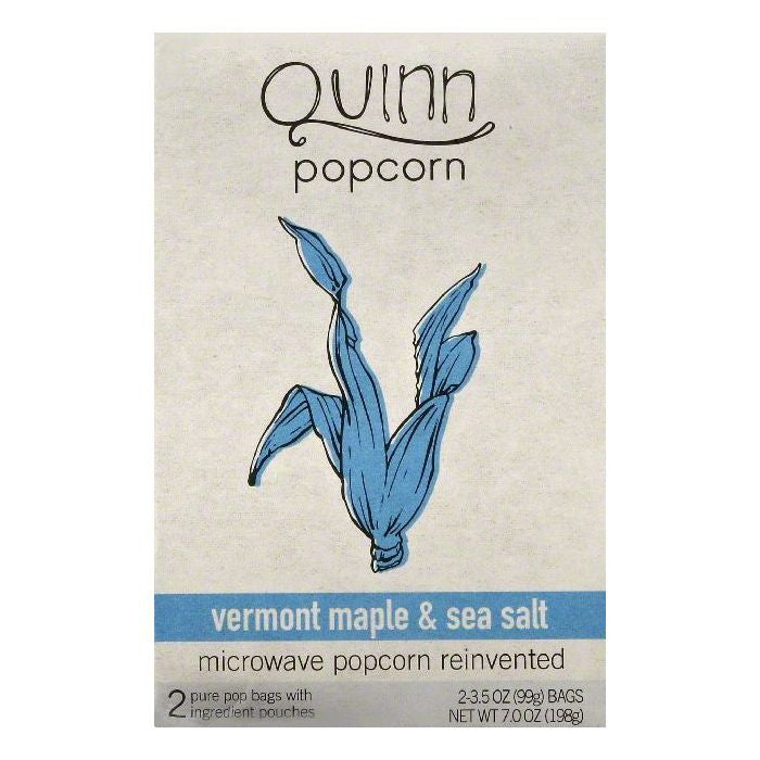 Quinn Vermont Maple & Sea Salt Microwave Popcorn, 2 ea (Pack of 6)