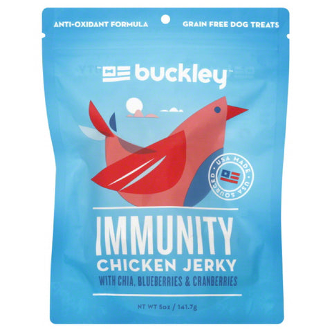 Buckley  Chicken Jerky Immunity Dog Treats, 5 Oz (Pack of 6)