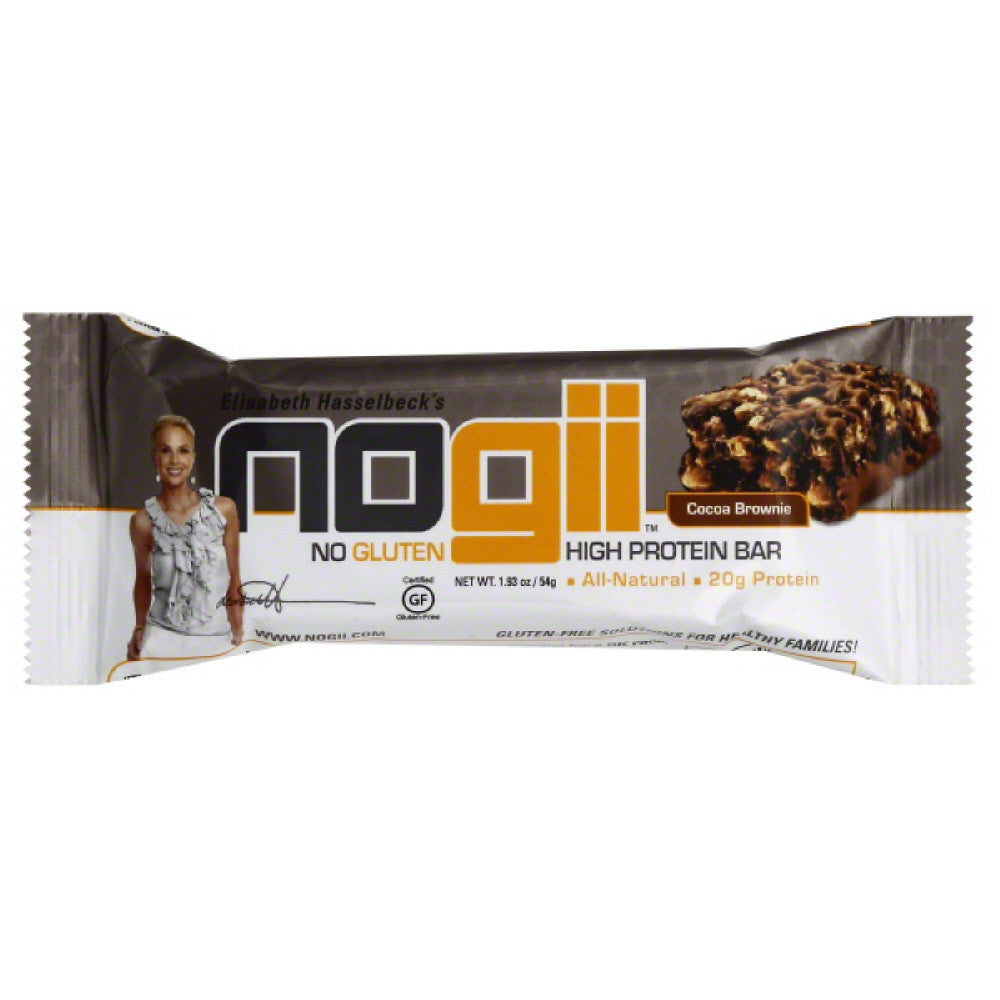 No Gii Cocoa Brownie High Protein Bar, 1.93 Oz (Pack of 12)