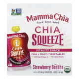 Mamma Chia Strawberry Banana Organic Vitality Snack, 4 ea (Pack of 6)
