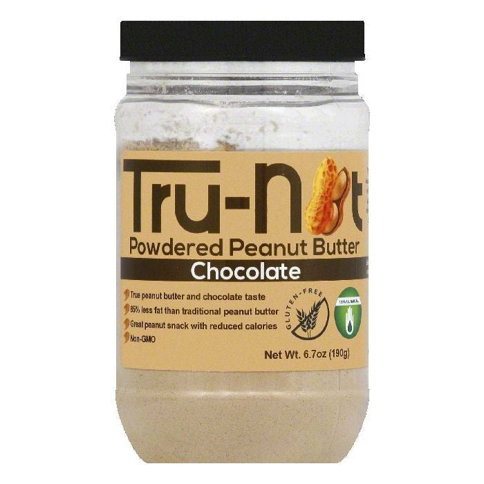 Tru nut Chocolate Powdered Peanut Butter, 6.7 OZ (Pack of 6)