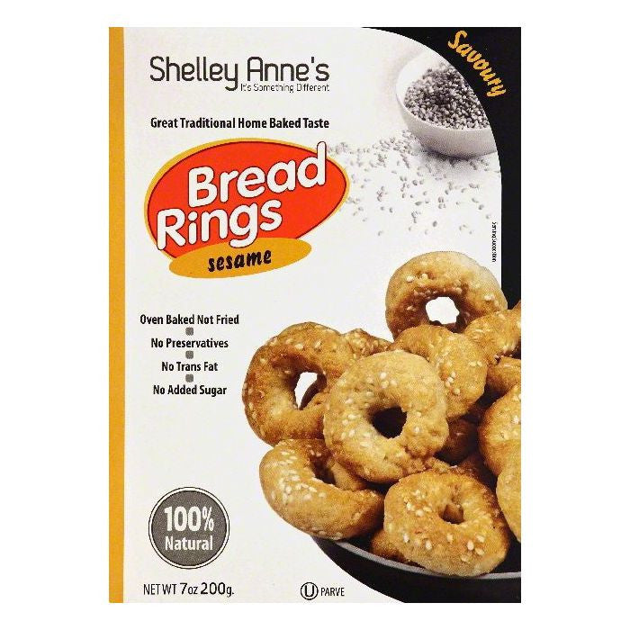 Shelley Annes Sesame Bread Rings, 7 OZ (Pack of 10)