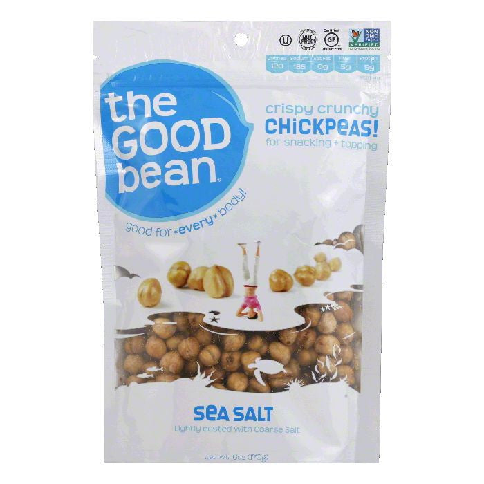 Good Bean Sea Salt Chickpeas, 6 Oz (Pack of 6)
