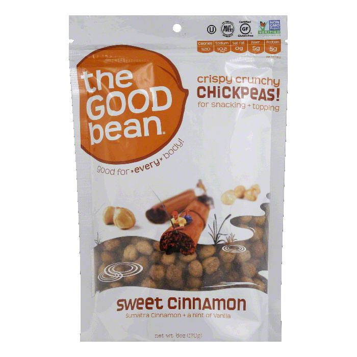 Good Bean Sweet Cinnamon Chickpeas, 6 Oz (Pack of 6)