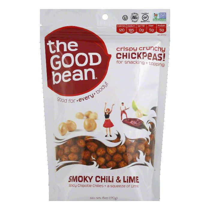 Good Bean Smoky Chili & Lime Chickpeas, 6 Oz (Pack of 6)