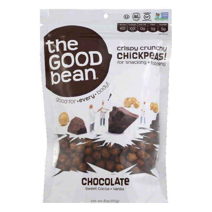 Good Bean Chocolate Chickpeas, 6 Oz (Pack of 6)