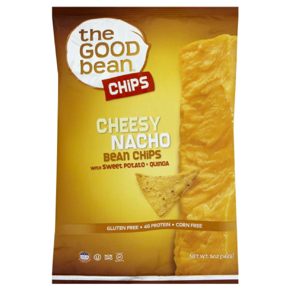 Good Bean Cheesy Nacho with Sweet Potato + Quinoa Bean Chips, 5 Oz (Pack of 12)