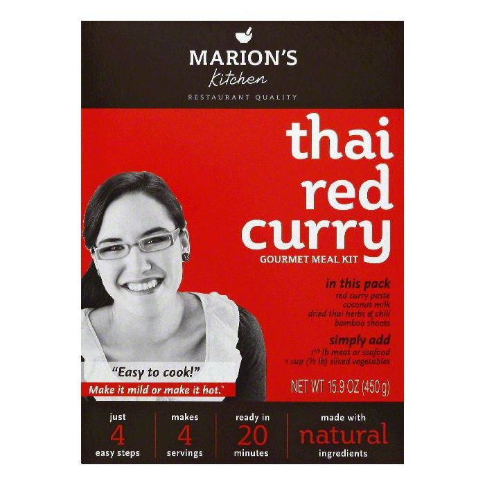 Marions Kitchen Thai Red Curry Gourmet Meal Kit, 16.7 OZ (Pack of 5)