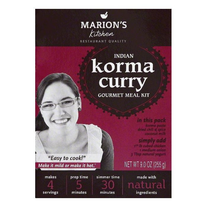 Marions Kitchen Indian Korma Curry Gourmet Meal Kit, 9 OZ (Pack of 5)