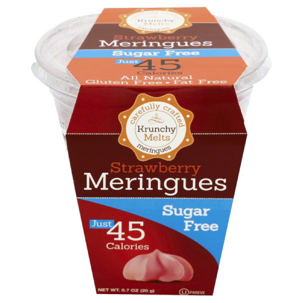 Krunchy Melts Strawberry Sugar Free Meringues, 0.7 Oz (Pack of 12)