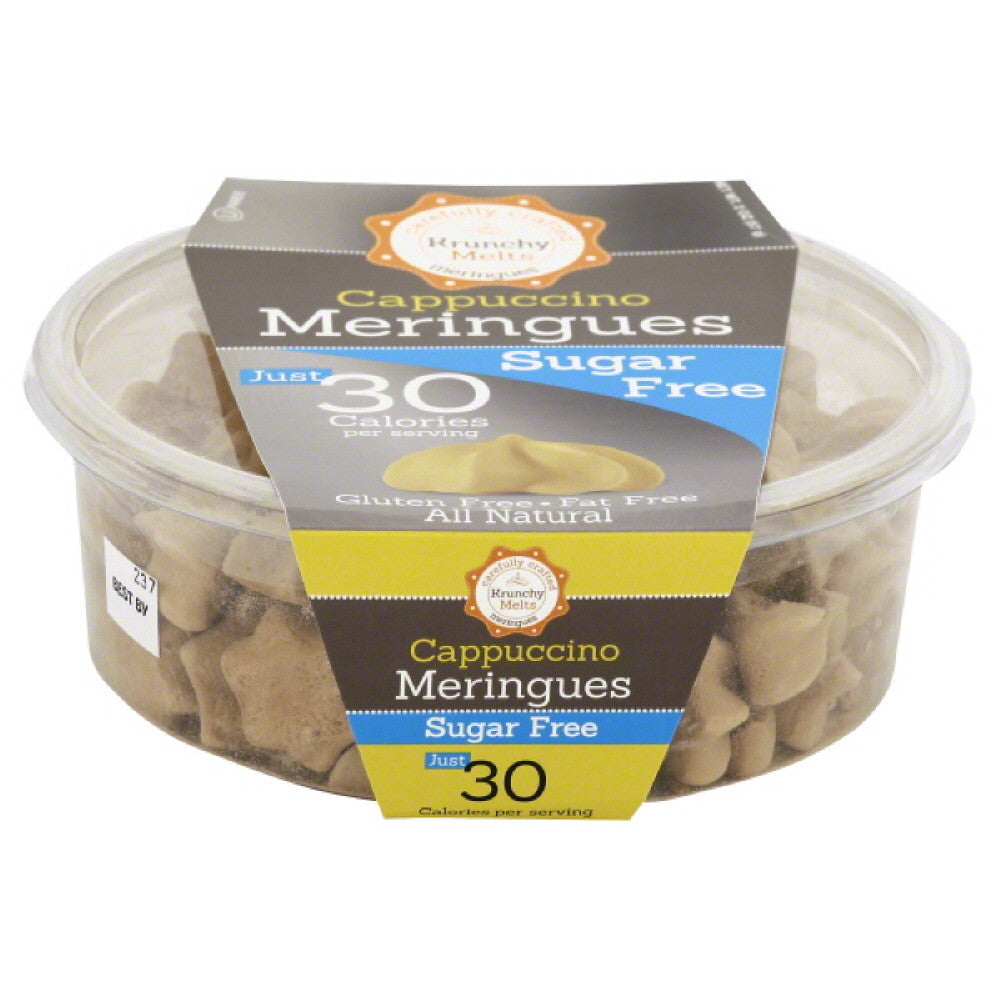 Krunchy Melts Sugar Free Cappuccino Meringues, 2 Oz (Pack of 12)