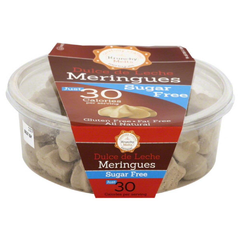 Krunchy Melts Sugar Free Dulce De Leche Meringues, 2 Oz (Pack of 12)
