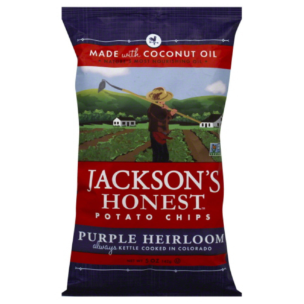 Jacksons Honest Purple Heirloom Potato Chips, 5 Oz (Pack of 12)