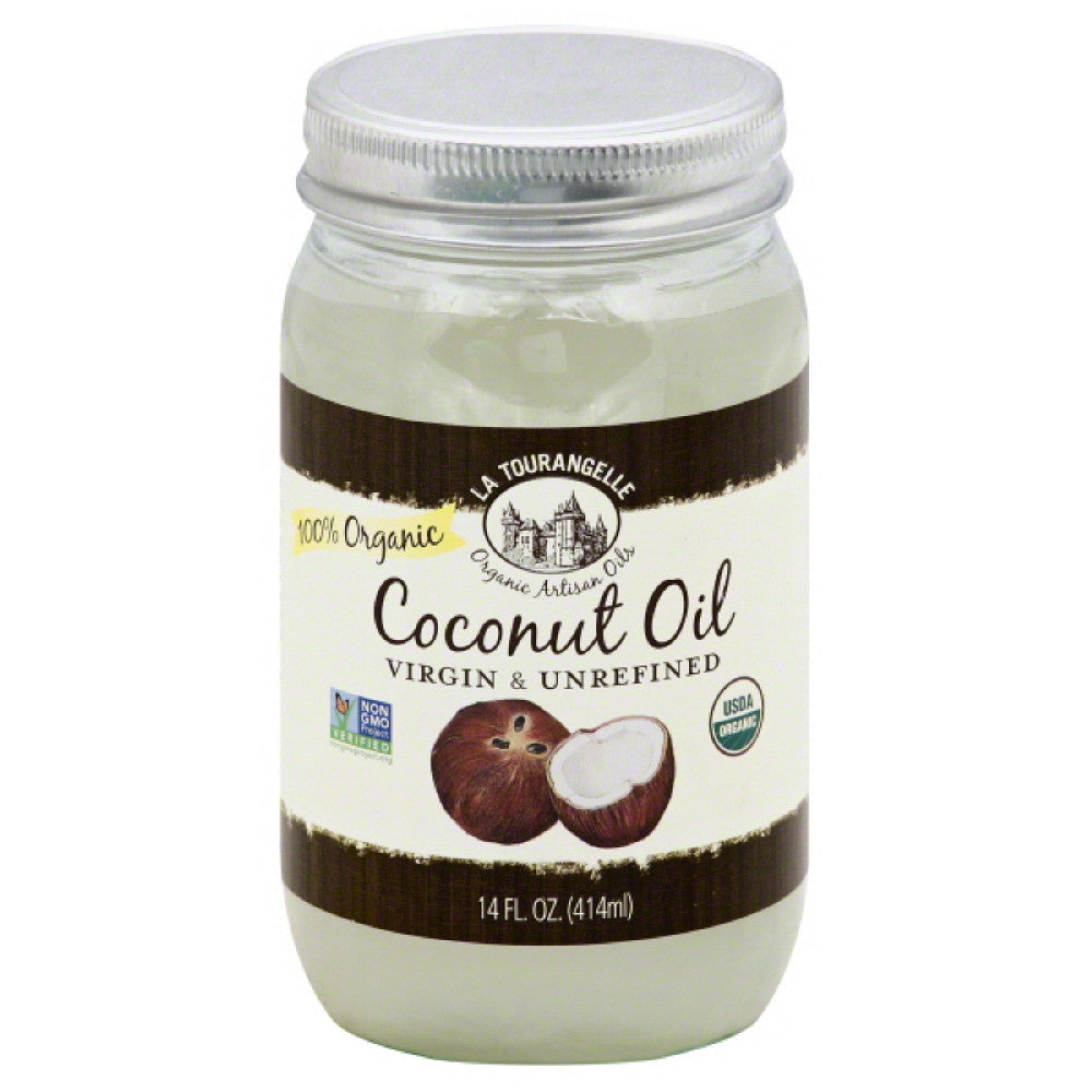 La Tourangelle 100% Organic Virgin & Unrefined Coconut Oil, 14 Fo (Pack of 6)