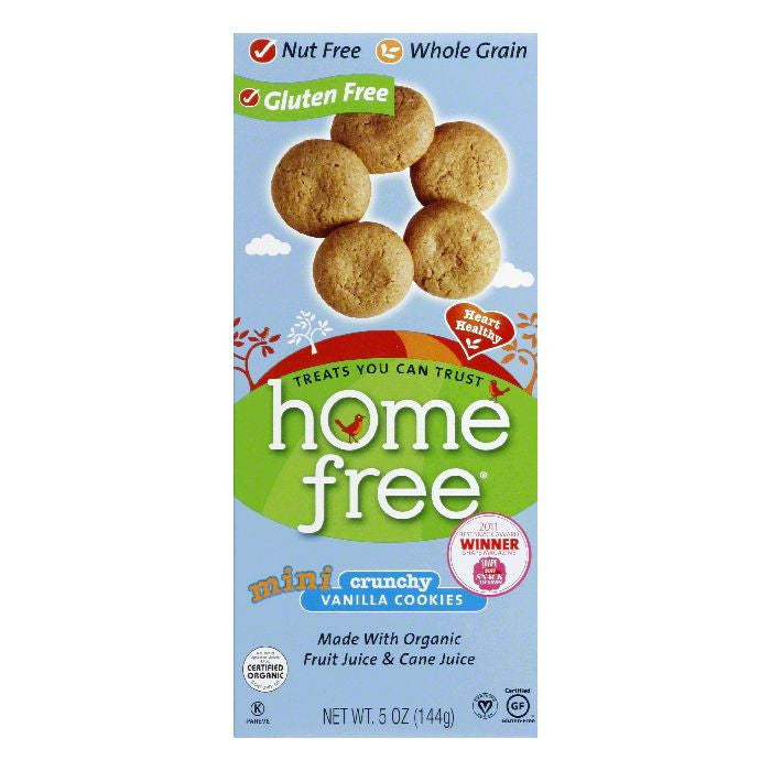 Homefree Crunchy Vanilla Mini Cookies, 5 Oz (Pack of 6)