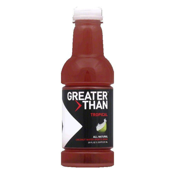 Greater Than Tropical Coconut Water, 20 OZ (Pack of 12)