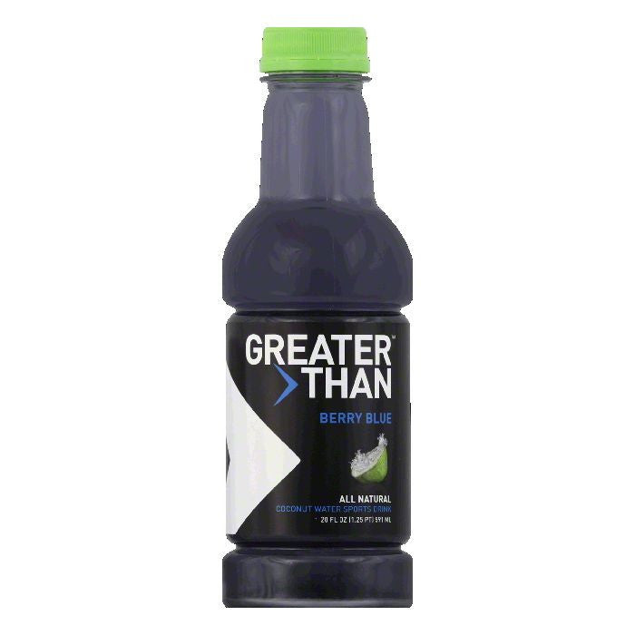 Greater Than Berry Blue Coconut Water Sports Drink, 16 FO (Pack of 12)
