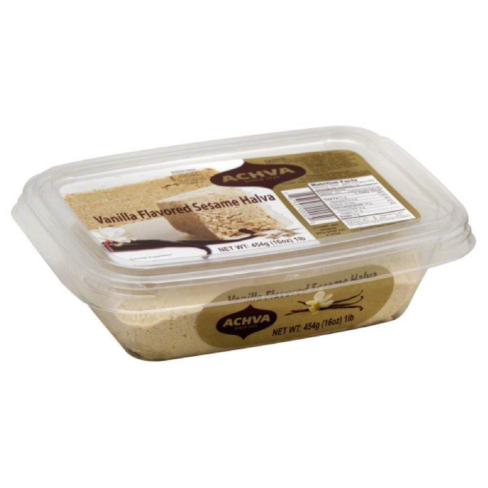 Achva Vanilla Flavored Sesame Halva, 16 Oz (Pack of 12)