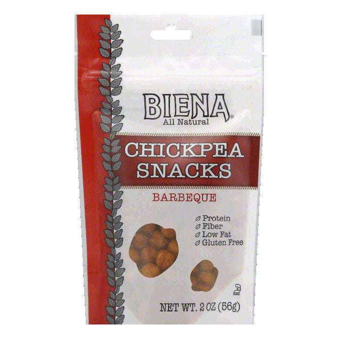 Biena Barbeque Chickpea Snacks, 2 OZ (Pack of 12)