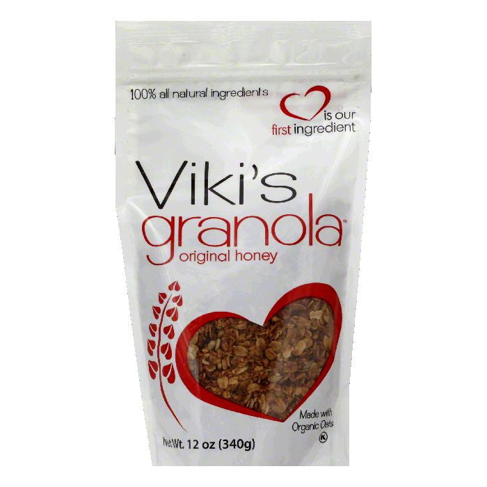 Vikis Granola Granola Honey Original, 12 OZ (Pack of 6)