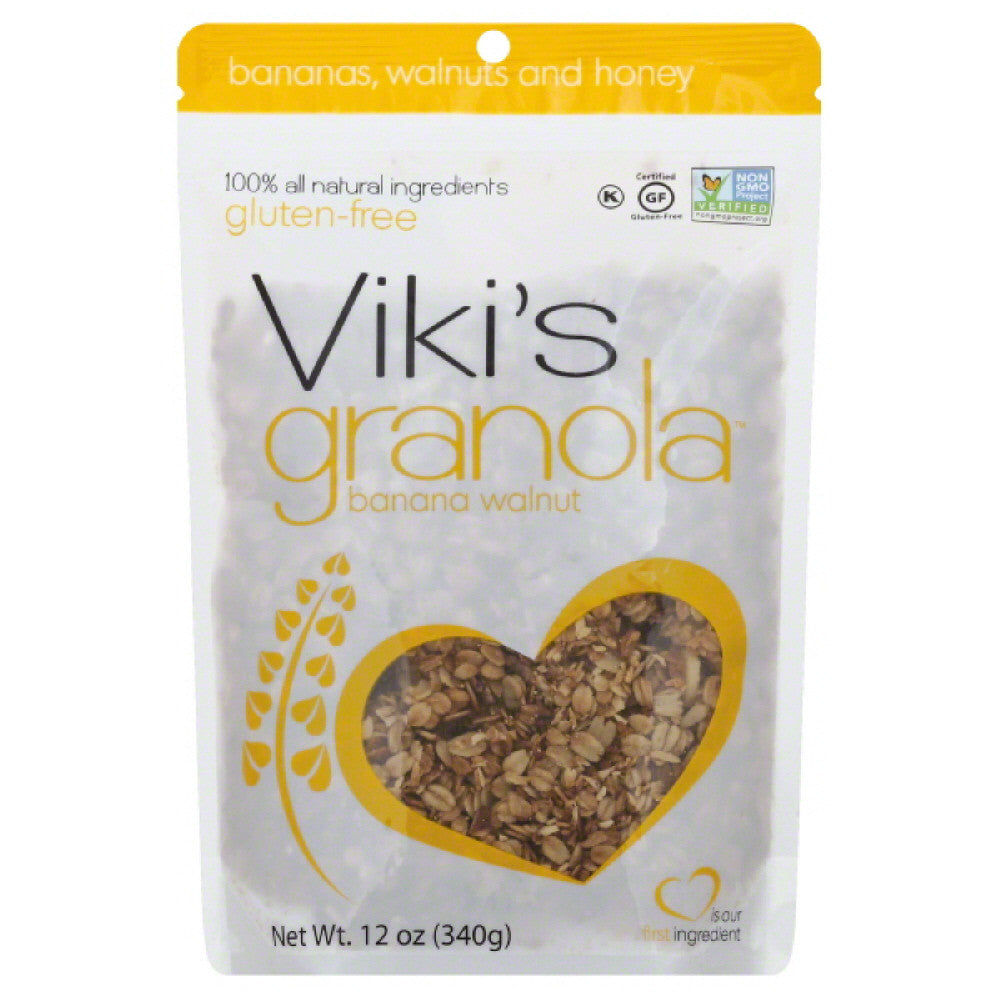 Vikis Granola Banana Walnut Granola, 12 Oz (Pack of 6)