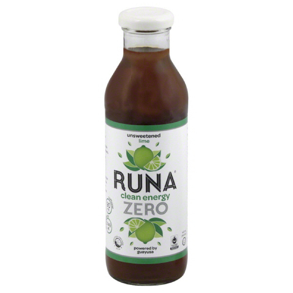 Runa Lime Unsweetened Clean Energy Drink, 14 Fo (Pack of 12)