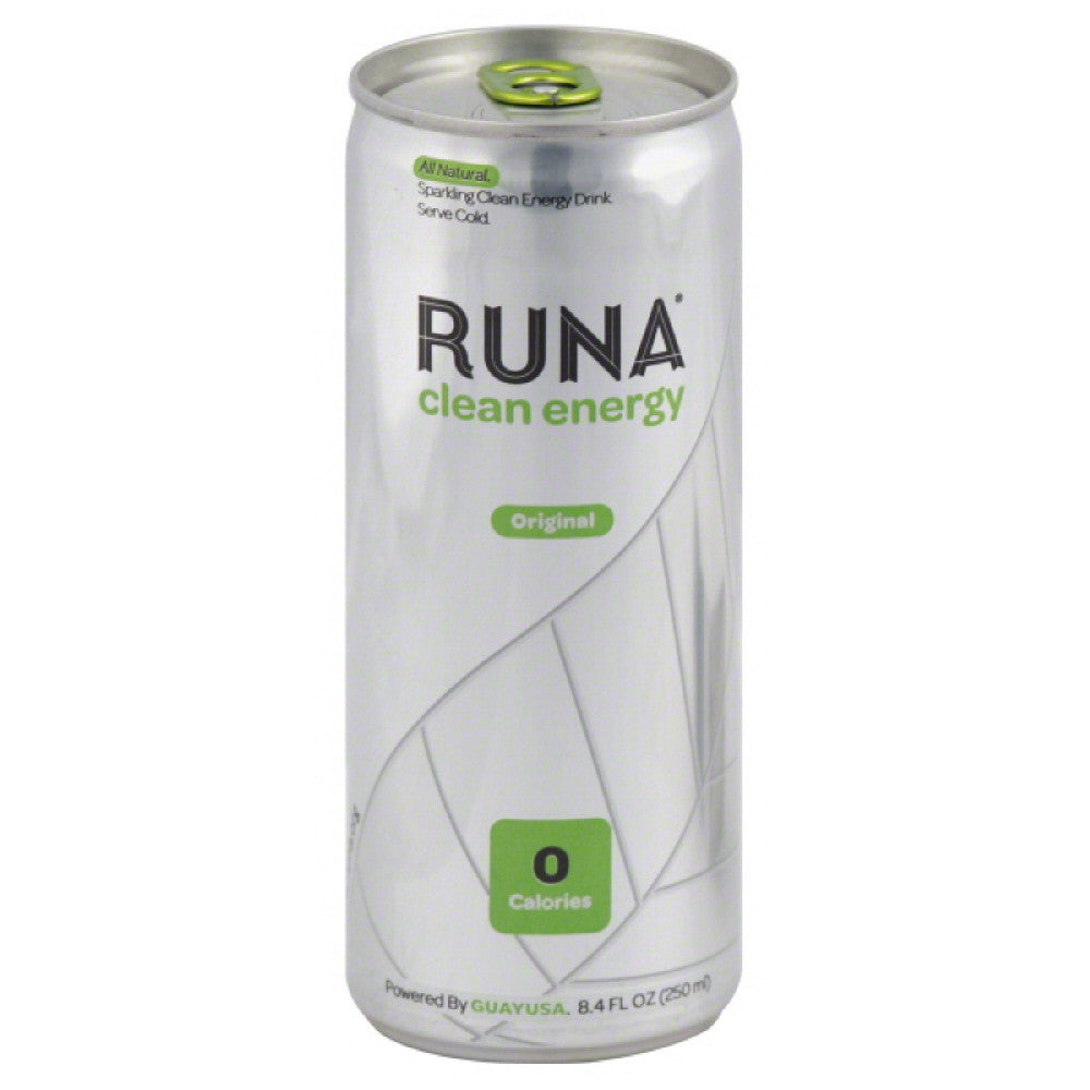 Runa Original Sparkling Clean Energy Drink, 8.4 Fo (Pack of 24)