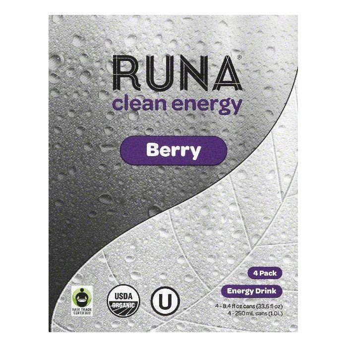 Runa Berry Clean Energy Drink, 4 ea (Pack of 6)