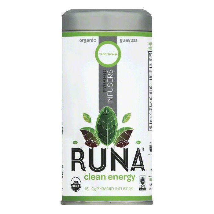 Runa Pyramid Infusers Traditional Clean Energy Guayusa Tea, 16 ea (Pack of 6)