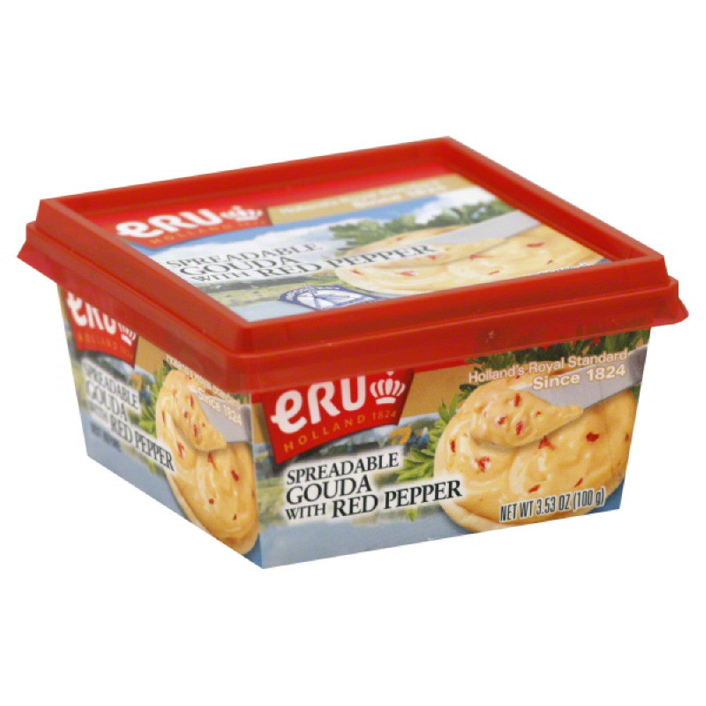 Eru Gouda Spreadable Cheese with Red Pepper, 3.5 Oz (Pack of 10)