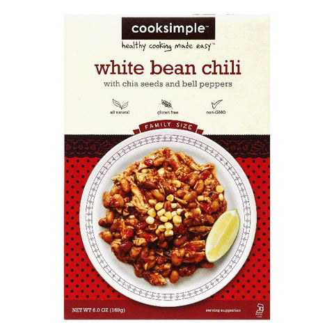 CookSimple White Bean Chili, 6.7 OZ (Pack of 6)