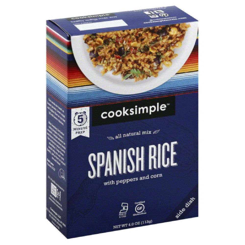 Cooksimple Spanish Rice with Peppers and Corn, 4 Oz (Pack of 6)