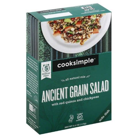Cooksimple Ancient Grain Salad with Red Quinoa and Chickpeas, 4 Oz (Pack of 6)