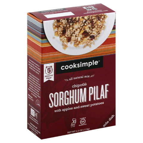 Cooksimple Chipotle Sorghum Pilaf, 4 Oz (Pack of 6)